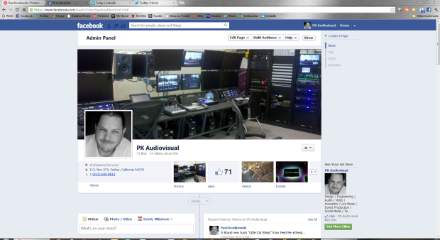 Facebook Timeline shown on a PC with 1080p resolution