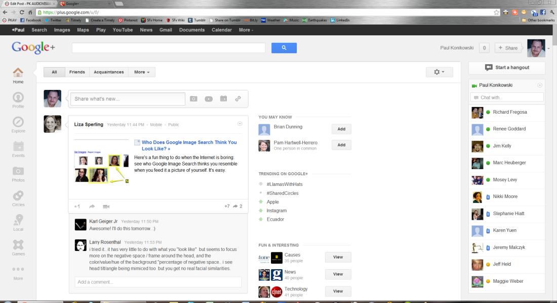 Google+ in 1080p