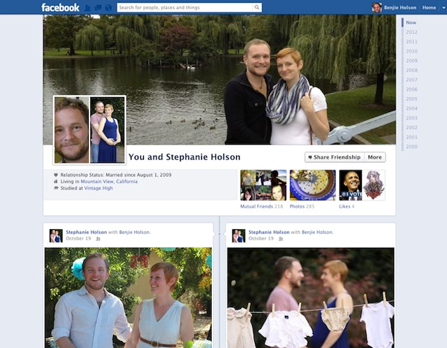 Facebook Friendship Pages