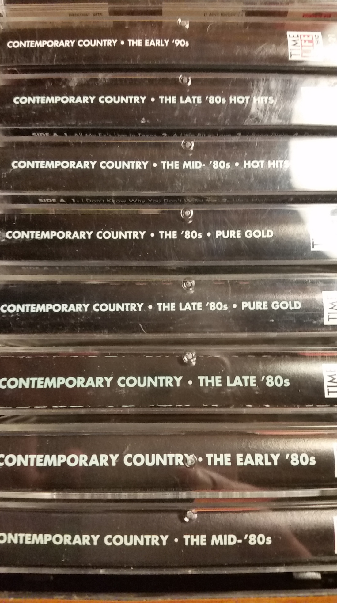 Timelife contemporary country cassettes
